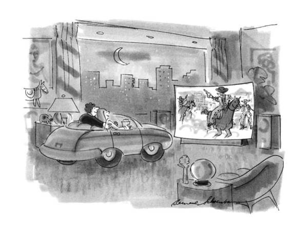 April 9th Drawing - New Yorker April 9th, 1990 by Bernard Schoenbaum