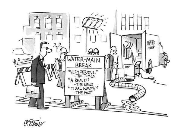 April 9th Drawing - New Yorker April 9th, 1990 by Peter Steiner