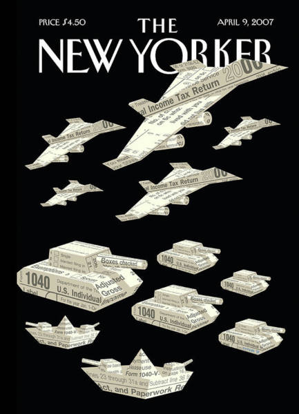 Painting - New Yorker April 9th, 2007 by Christoph Niemann