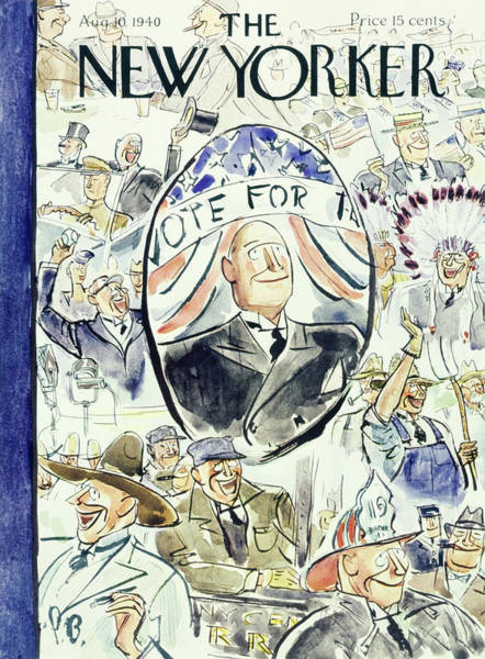 American Culture Painting - New Yorker August 10 1940 by Perry Barlow