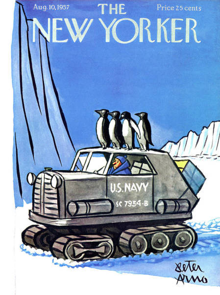 Navy Painting - New Yorker August 10th, 1957 by Peter Arno