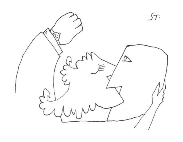 Watch Out Wall Art - Drawing - New Yorker August 10th, 1957 by Saul Steinberg