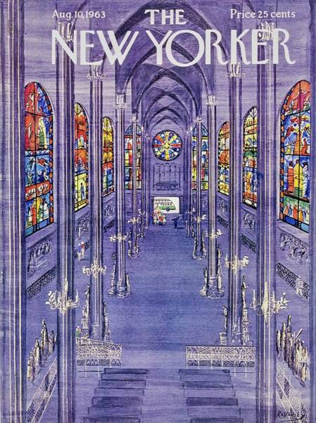 1960s Painting - New Yorker August 10th 1963 by Anatole Kovarsky