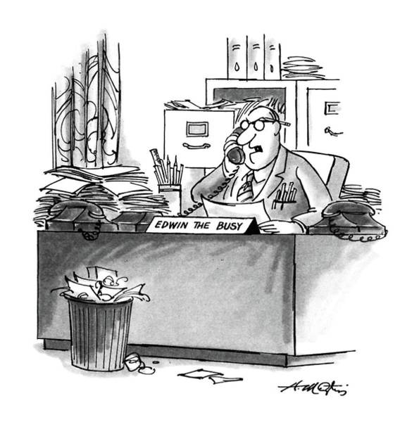 Out Of Business Wall Art - Drawing - New Yorker August 10th, 1987 by Henry Martin