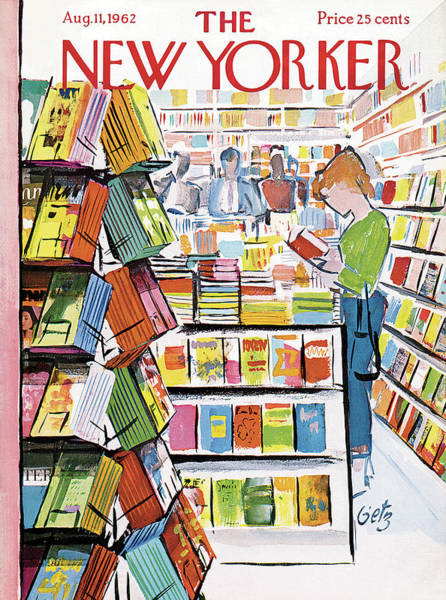 Reading Painting - New Yorker August 11th, 1962 by Arthur Getz