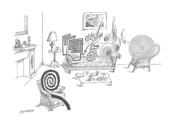 August 11th Drawing - New Yorker August 11th, 1962 by Saul Steinberg