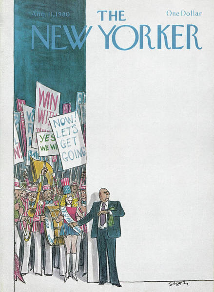 Election Painting - New Yorker August 11th, 1980 by Charles Saxon