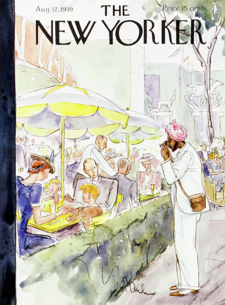 Adult Painting - New Yorker August 12 1939 by Perry Barlow