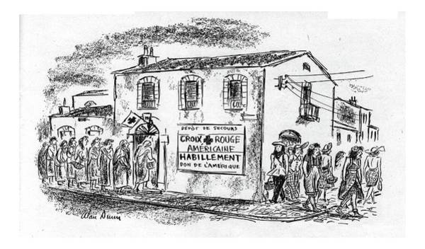 Red Cross Drawing - New Yorker August 12th, 1944 by Alan Dunn