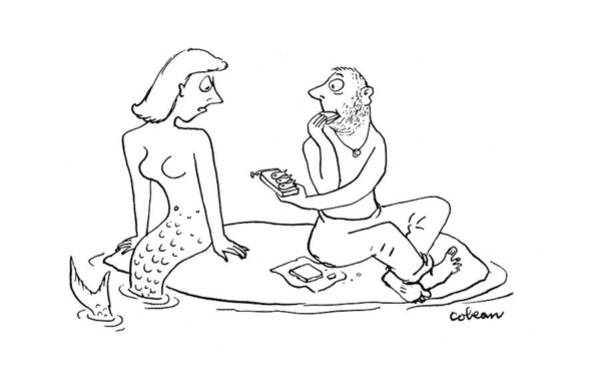Shipwreck Drawing - New Yorker August 12th, 1944 by Sam Cobean