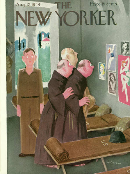 Cotton Painting - New Yorker August 12th, 1944 by Will Cotton