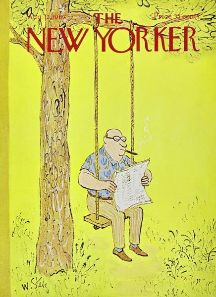 Swing Painting - New Yorker August 12th 1967 by William Steig