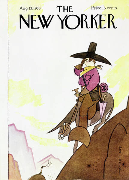 Riding Painting - New Yorker August 13 1938 by Rea Irvin