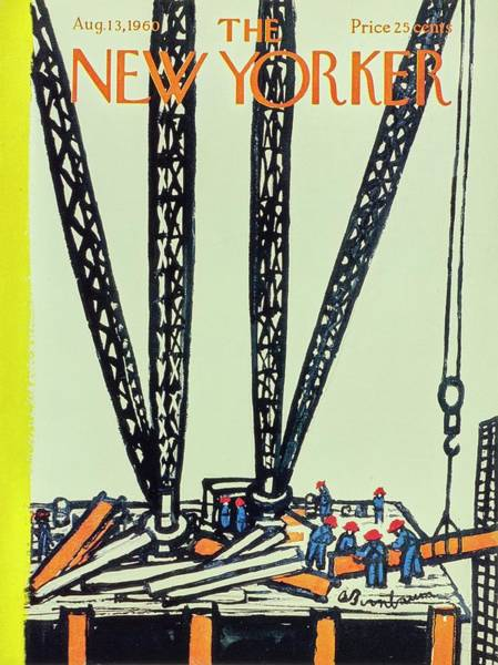 1960 Painting - New Yorker August 13th 1960 by Aaron Birnbaum