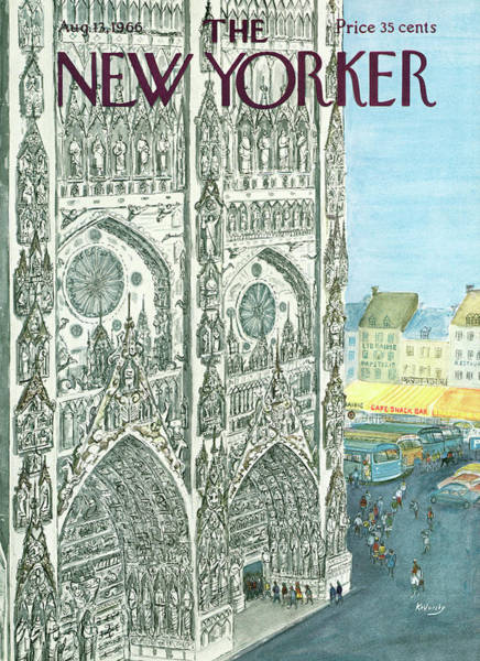 1966 Painting - New Yorker August 13th, 1966 by Anatol Kovarsky