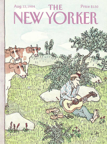 Shoe Painting - New Yorker August 13th, 1984 by William Steig