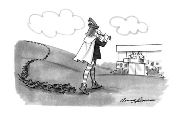 Experiment Drawing - New Yorker August 13th, 1990 by Bernard Schoenbaum