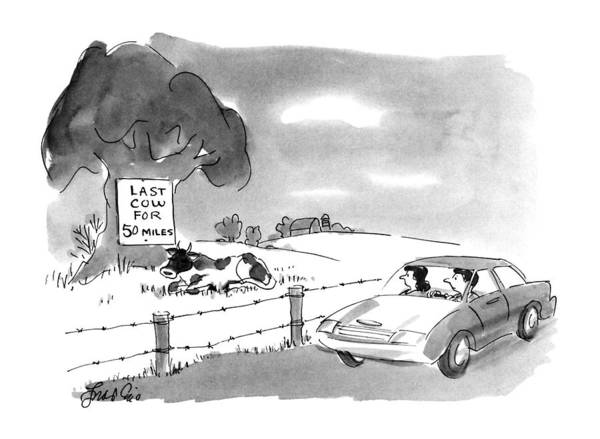 Rural Drawing - New Yorker August 13th, 1990 by Edward Frascino