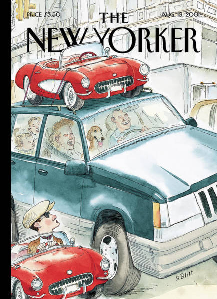 Roof Painting - New Yorker August 13th, 2001 by Barry Blitt