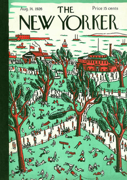 Picnic Painting - New Yorker August 14th, 1926 by Ilonka Karasz
