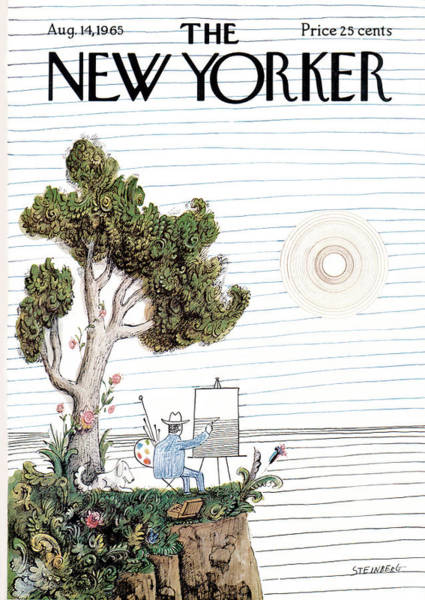 Plants Painting - New Yorker August 14th, 1965 by Saul Steinberg