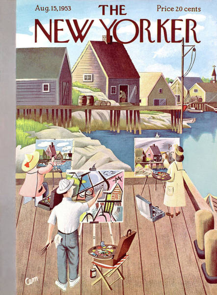 Pier Painting - New Yorker August 15th, 1953 by Charles E. Martin