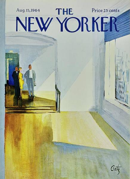 Wall Art - Painting - New Yorker August 15th 1964 by Arthur Getz