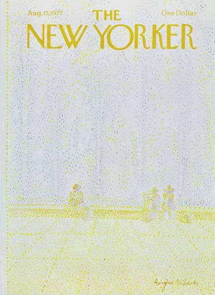 City Life Painting - New Yorker August 15th 1977 by Eugene Mihaesco