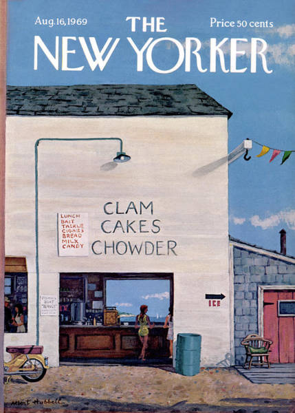 Restaurant Painting - New Yorker August 16th, 1969 by Albert Hubbell