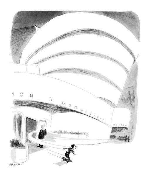Architecture Drawing - New Yorker August 16th, 1976 by James Stevenson