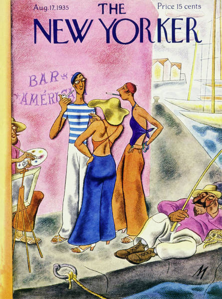 Magazine Painting - New Yorker August 17 1935 by Julian De Miskey