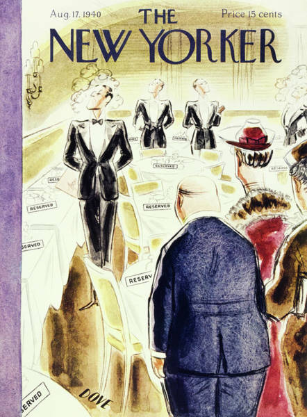 Restaurant Painting - New Yorker August 17 1940 by Leonard Dove