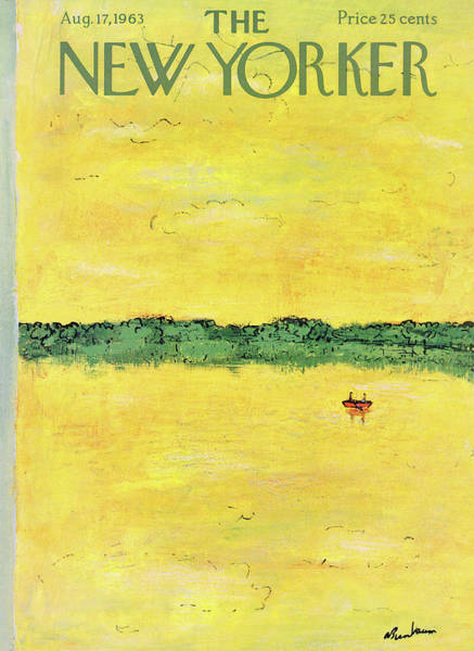 Summertime Painting - New Yorker August 17th, 1963 by Abe Birnbaum