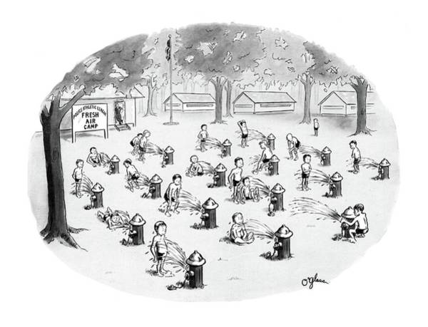 Habit Drawing - New Yorker August 17th, 1968 by C.E. O'Glass