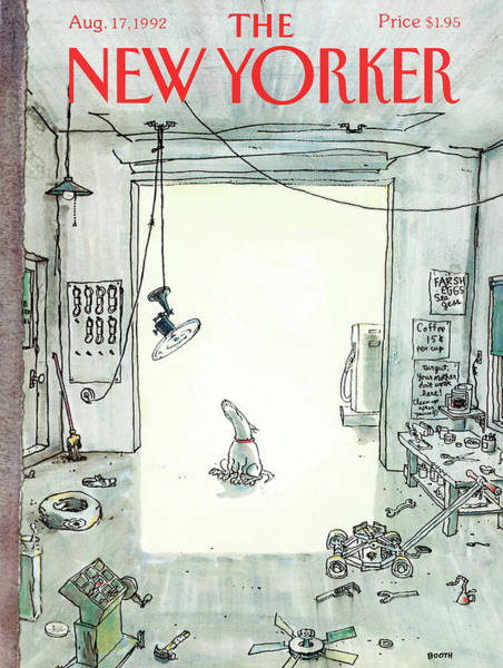 Pet Painting - New Yorker August 17th, 1992 by George Booth