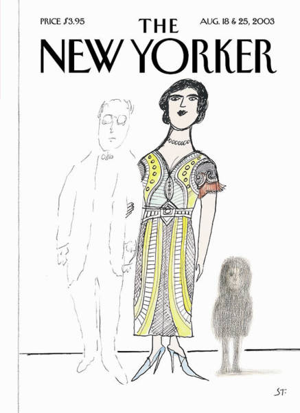 Mother Painting - New Yorker August 18th, 2003 by Saul Steinberg