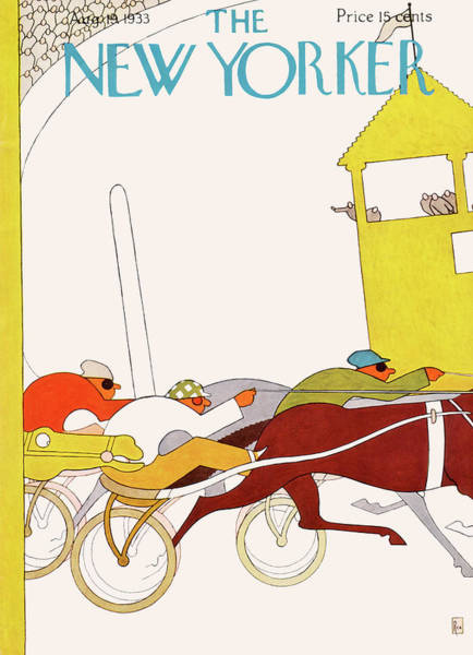 Race Horse Painting - New Yorker August 19th, 1933 by Gardner Rea