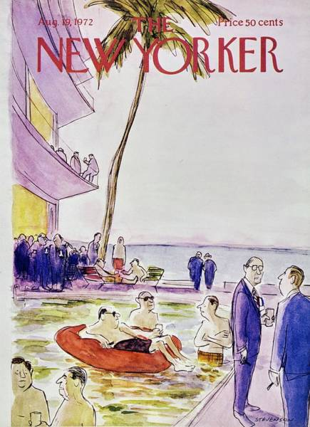 Wall Art - Painting - New Yorker August 19th 1972 by James Stevenson