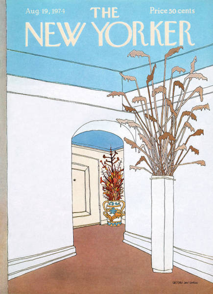 Home Painting - New Yorker August 19th, 1974 by Gretchen Dow Simpson