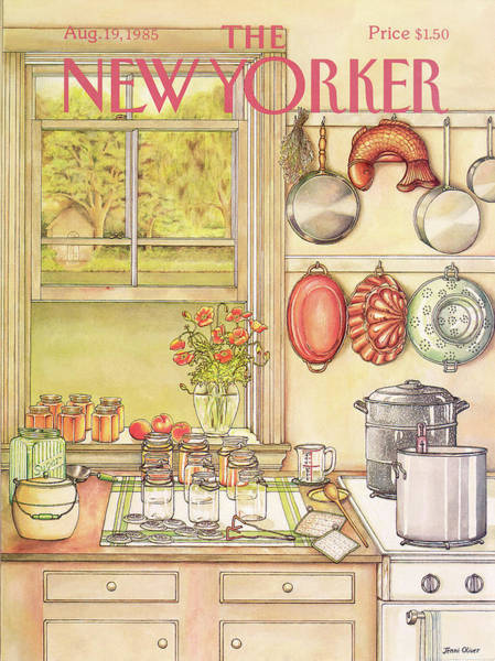 Cooking Pot Painting - New Yorker August 19th, 1985 by Jenni Oliver
