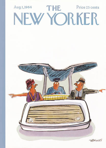 Marriage Painting - New Yorker August 1st, 1964 by Frank Modell