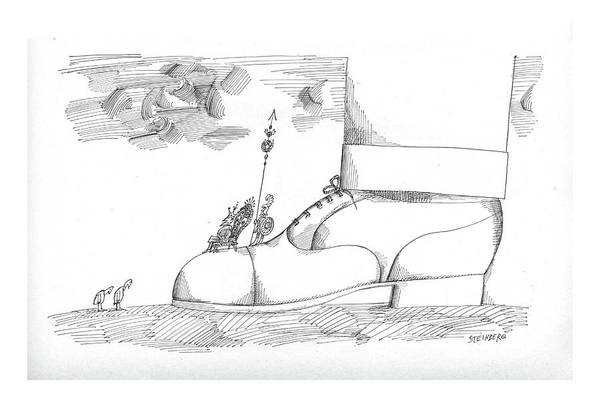 Elves Drawing - New Yorker August 1st, 1964 by Saul Steinberg