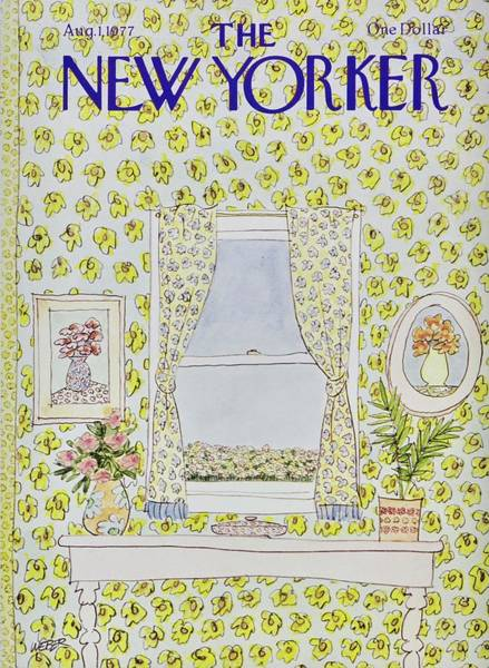 Window Frame Painting - New Yorker August 1st 1977 by Robert Weber