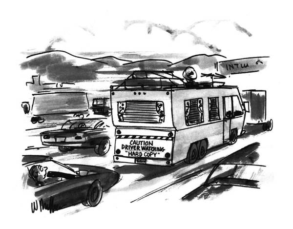 Trailer Drawing - New Yorker August 1st, 1994 by Warren Miller