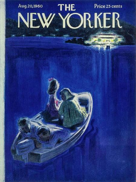 Formal Wear Painting - New Yorker August 20th 1960 by Leonard Dove