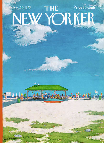 Table Painting - New Yorker August 20th, 1973 by Albert Hubbell