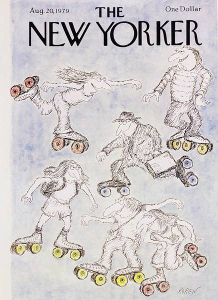 Wall Art - Painting - New Yorker August 20th 1979 by Edward Koren
