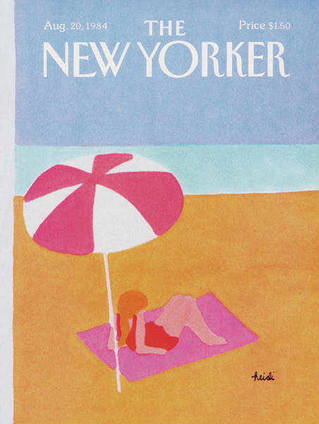 Summer Vacation Painting - New Yorker August 20th, 1984 by Heidi Goennel