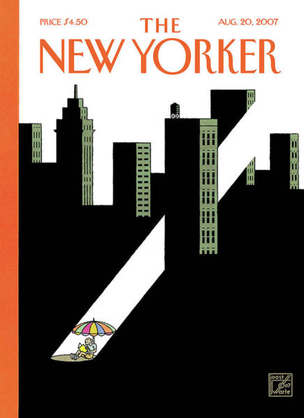 Book Painting - New Yorker August 20th, 2007 by Joost Swarte