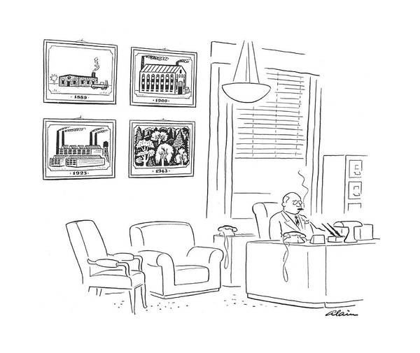Chairman Of The Board Drawing - New Yorker August 21st, 1943 by  Alain